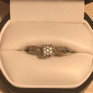 Rose gold promise ring from Kay